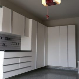 Miami White Garage Cabinets